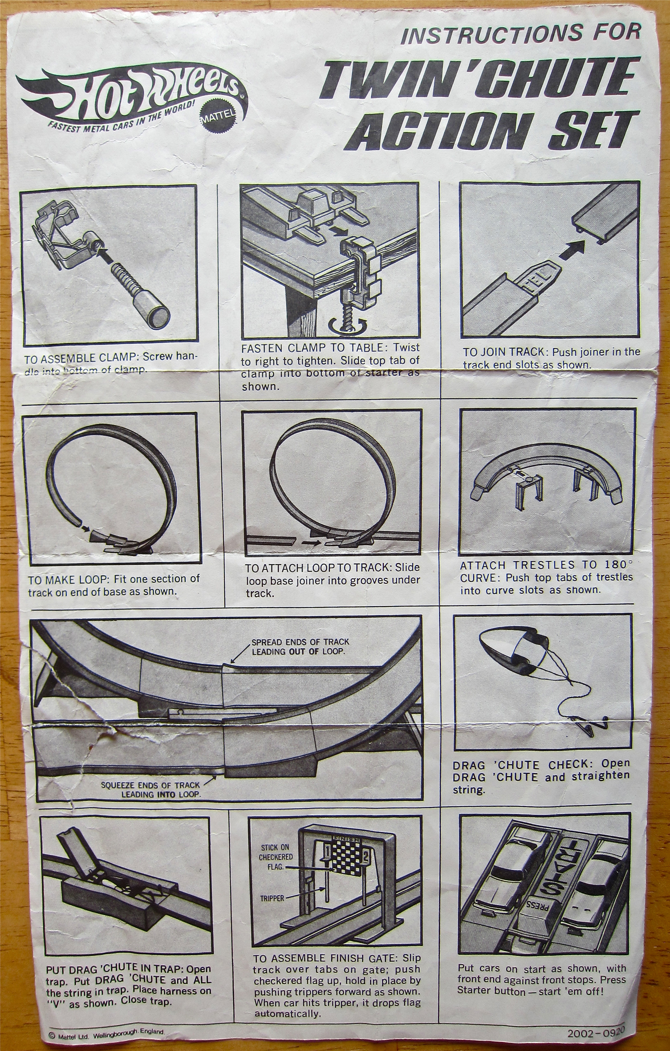 hot wheels set instructions