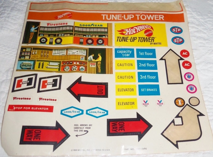 Tune-Up Tower decals. Courtesy eBay.